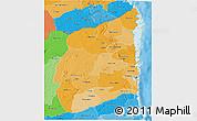 Political Shades 3D Map of Cabo Delgado