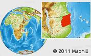 Physical Location Map of Cabo Delgado