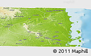 Physical Panoramic Map of Macomia