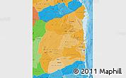 Political Shades Map of Cabo Delgado
