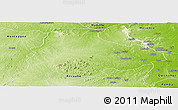 Physical Panoramic Map of Meluco