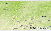 Physical Panoramic Map of Montepuez