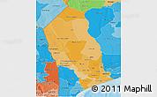 Political Shades 3D Map of Gaza