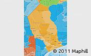 Political Shades Map of Gaza