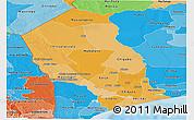 Political Shades Panoramic Map of Gaza
