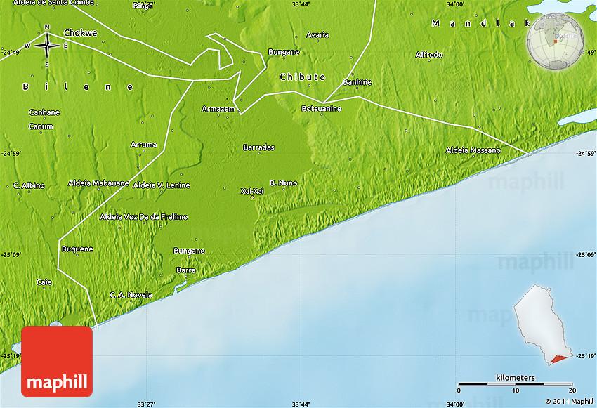Physical Map of XaiXai