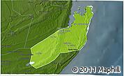 Physical 3D Map of Jangamo, darken