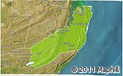 Physical 3D Map of Jangamo, satellite outside