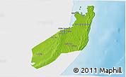 Physical 3D Map of Jangamo, single color outside