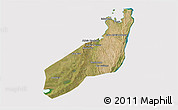 Satellite 3D Map of Jangamo, cropped outside