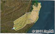 Satellite 3D Map of Jangamo, darken