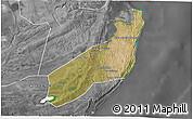 Satellite 3D Map of Jangamo, desaturated