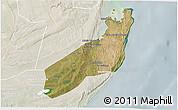 Satellite 3D Map of Jangamo, lighten