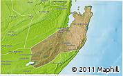 Satellite 3D Map of Jangamo, physical outside