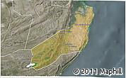 Satellite 3D Map of Jangamo, semi-desaturated