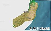 Satellite 3D Map of Jangamo, single color outside