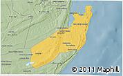 Savanna Style 3D Map of Jangamo