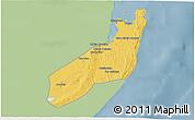 Savanna Style 3D Map of Jangamo, single color outside