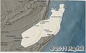 Shaded Relief 3D Map of Jangamo, darken