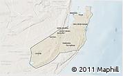 Shaded Relief 3D Map of Jangamo, lighten