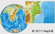 Physical Location Map of Jangamo