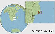 Savanna Style Location Map of Jangamo