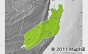 Physical Map of Jangamo, desaturated