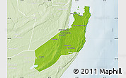 Physical Map of Jangamo, lighten