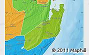 Physical Map of Jangamo, political outside