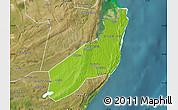 Physical Map of Jangamo, satellite outside