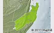 Physical Map of Jangamo, semi-desaturated