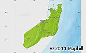 Physical Map of Jangamo, single color outside