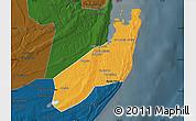 Political Map of Jangamo, darken