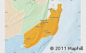 Political Map of Jangamo, lighten