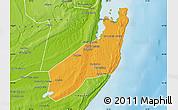 Political Map of Jangamo, physical outside
