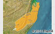 Political Map of Jangamo, satellite outside