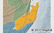 Political Map of Jangamo, semi-desaturated