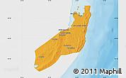 Political Map of Jangamo, single color outside