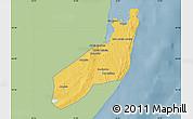 Savanna Style Map of Jangamo, single color outside