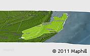 Physical Panoramic Map of Jangamo, darken