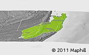Physical Panoramic Map of Jangamo, desaturated