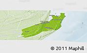 Physical Panoramic Map of Jangamo, lighten