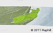 Physical Panoramic Map of Jangamo, semi-desaturated