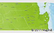 Physical Panoramic Map of Vilanculos