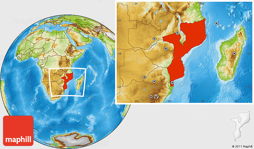Physical location map of mozambique sciox Choice Image