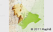 Physical Map of Sussundenga, lighten