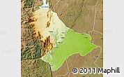 Physical Map of Sussundenga, satellite outside