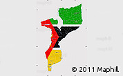 Flag Map of Mozambique