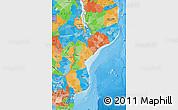 Political Map of Mozambique