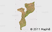 Satellite Map of Mozambique, cropped outside